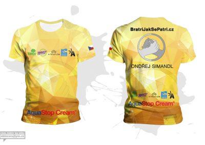 Funkční týmové tričko na OCR závody