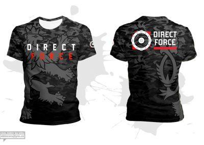Firemní funkční tričko pro střelecké aktivity