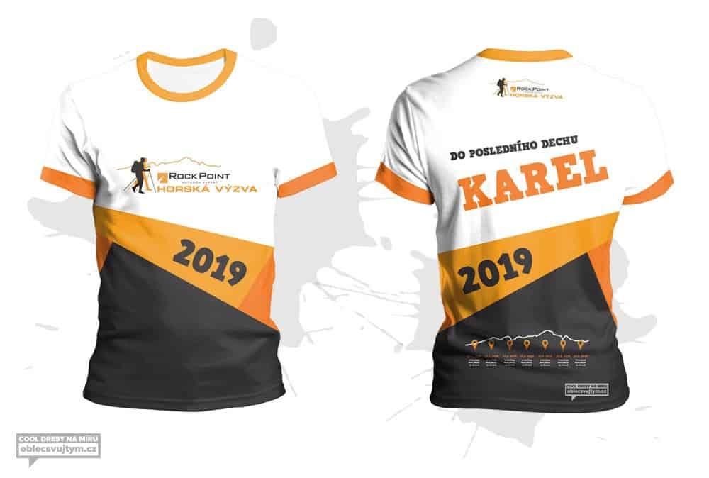 Týmové tričko na závody seriálu Horská výzva