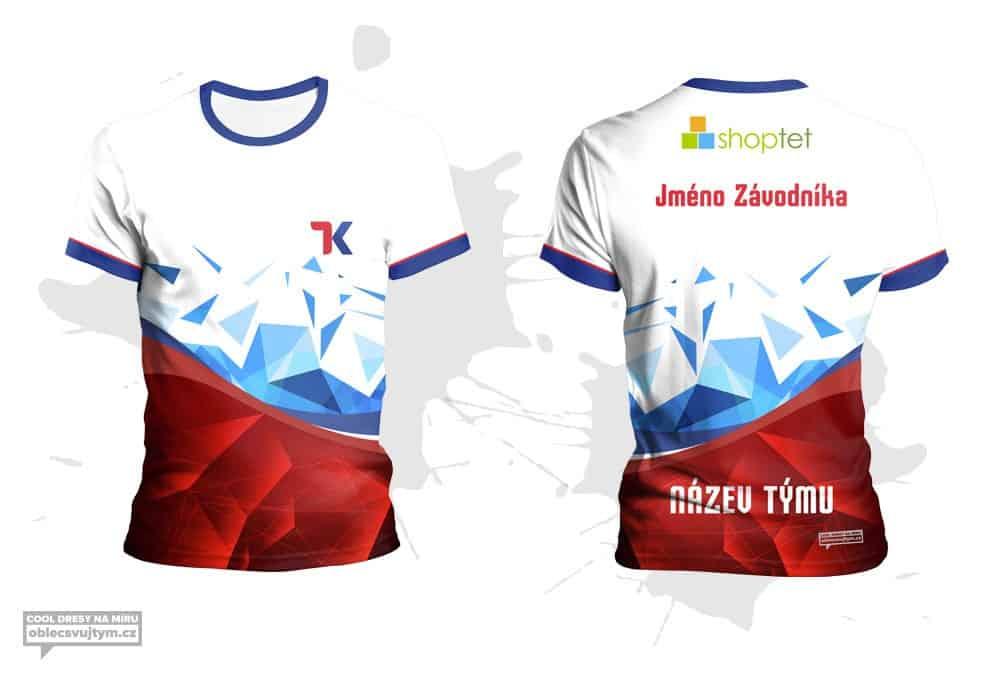 Funkční týmové tričko na běžecké závody - tým Shoptet